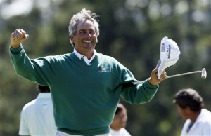 1992 champion Fred Couples produced a brilliant round of golf, becoming the oldest ever player to lead the Masters at half-way. This beat the then 49-year-old Lee Trevino, who tied with Nick Faldo back in 1989
