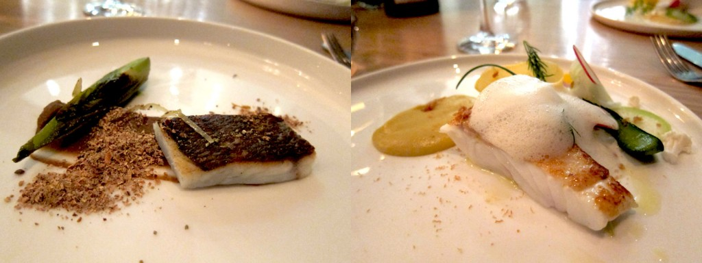 Next on the table were Bream with Dill-Chicory and Fennel Caramel and Turbot with Spring Vegetables and Mussels