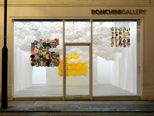 Jacob hashimoto at the Ronchini Gallery