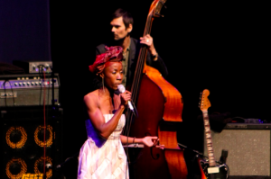 Rokia Traoré onstage at the Barbican Centre on 23rd June 2012. Photo: Sherinne Abdou