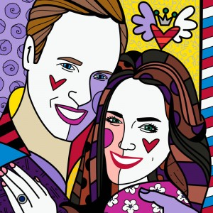Real love yellow series by Romero Britto