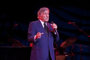 Tony Bennett performs to a sold-out show in Newark, New Jersey on 27th January at the New Jersey Performing Arts Center.