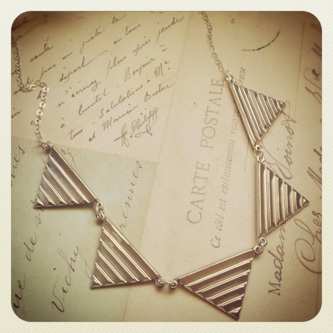 Geometric Bunting Necklace $35