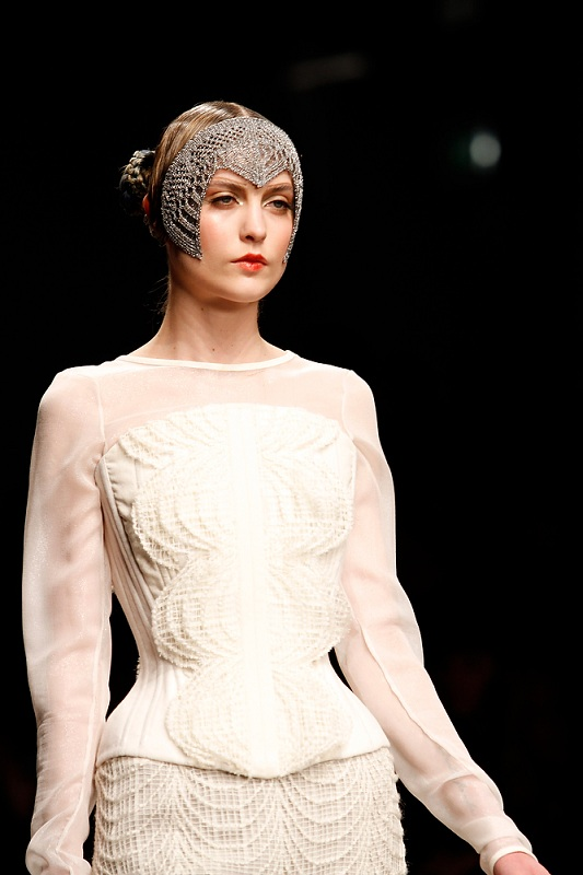 Catwalk for the London Fashion Week AW13