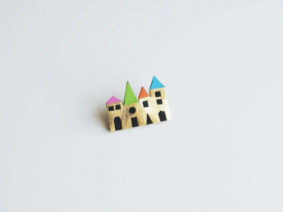 houses brooch