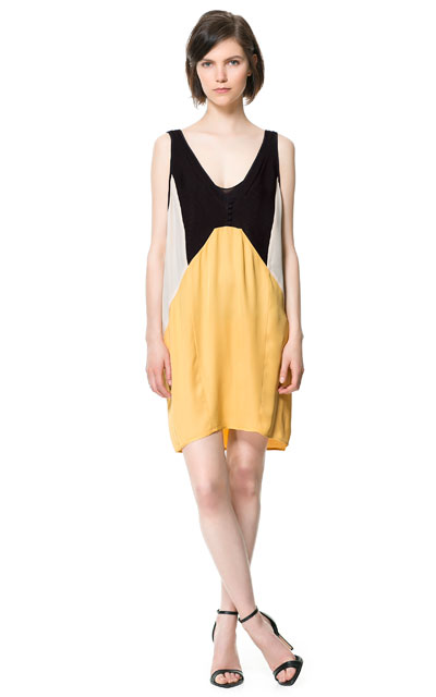 tricolour studio dress Zara