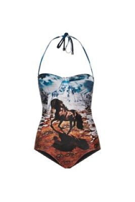 We Are Handsome The Stallion Panel On   epiece RRP £255 Salt Resortwear _opt