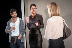 Ronny Jhutti, Shereen Martin and Gráinne Keenan in Ciphers. Photo by Robert Workman.