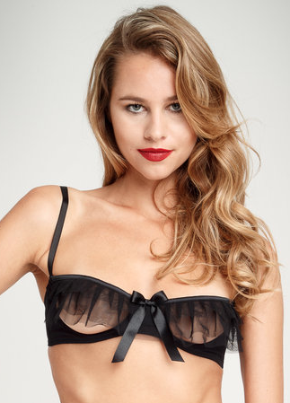 Lascivious Kitty Cupless Bra from Coco De Mer