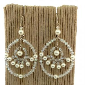 SC pearl and crystal earrings