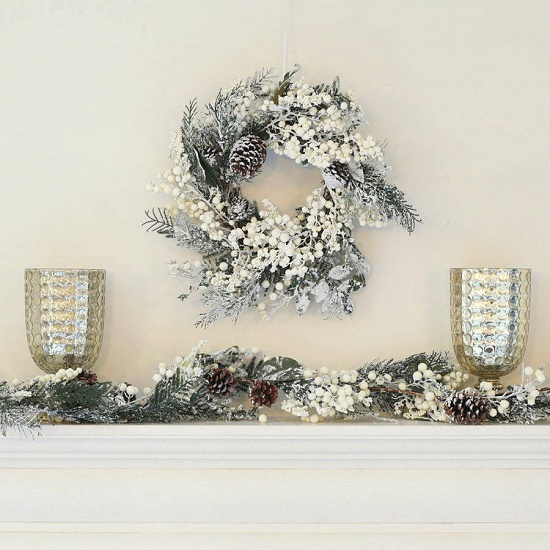 frosted wreath