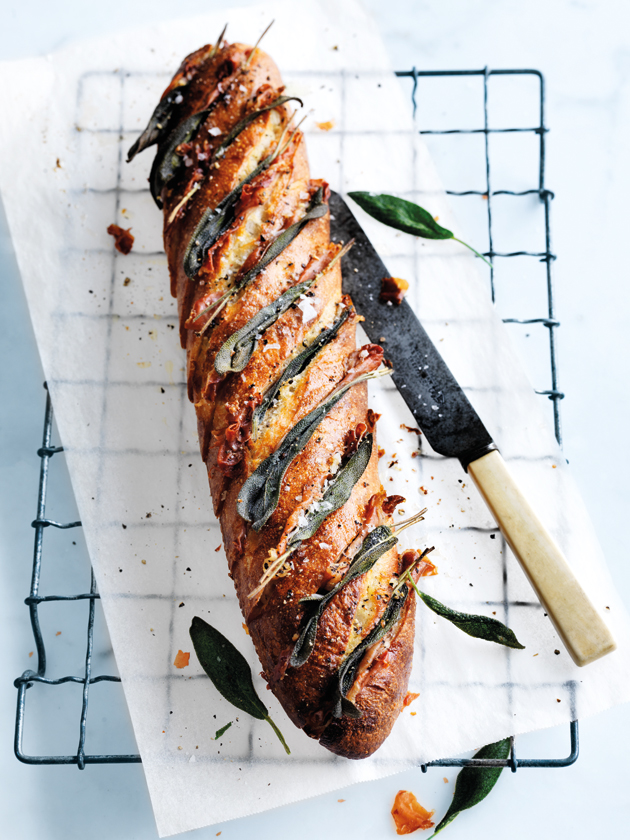 Proscuitto and Sage Garlic Bread